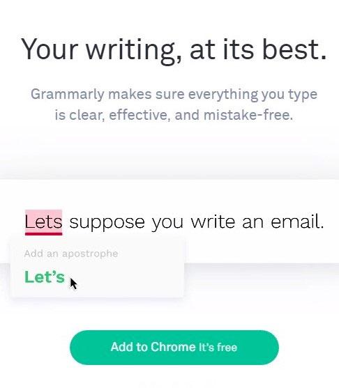 املای صحیح و دستور زبان با Grammarly