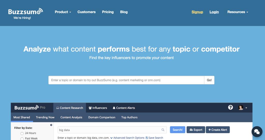تحلیل موضوعات و یافتن تاثیرگذاران با BuzzSumo