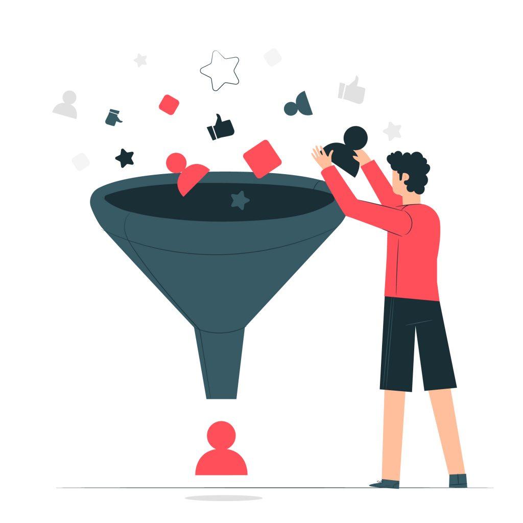 قیف فروش چیست و چه مراحلی دارد؟