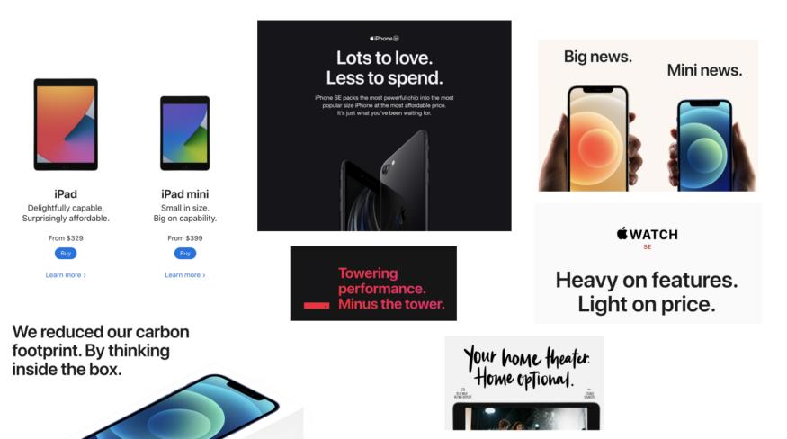 مثالهایی از تبلیغات اپل